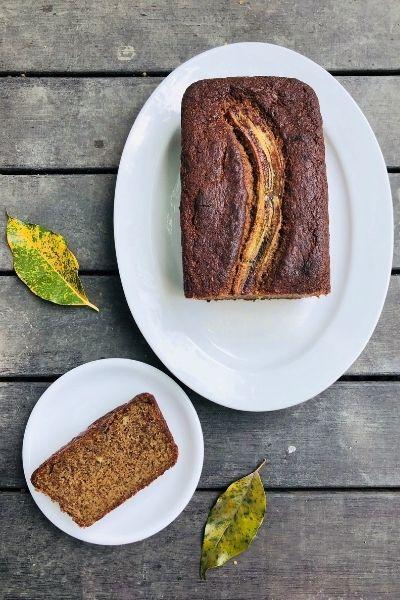 Wholemeal Banana Molasses cake
