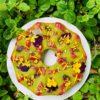 Raspberry pandan sugee butter cake